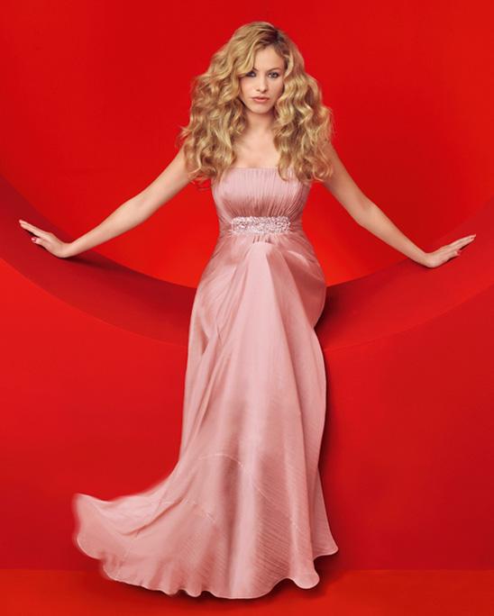 Vestido de novia paulina rubio rosa clara