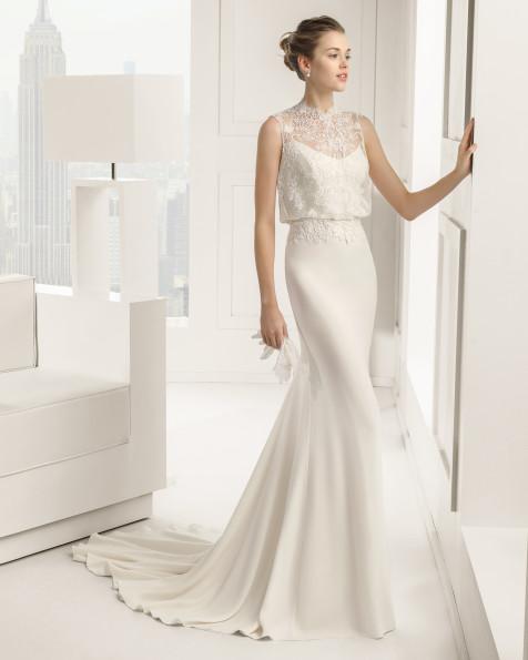 Sabrina vestido de novia Rosa Clara