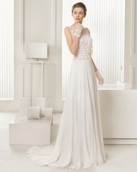 Selena vestido de novia Rosa Clara