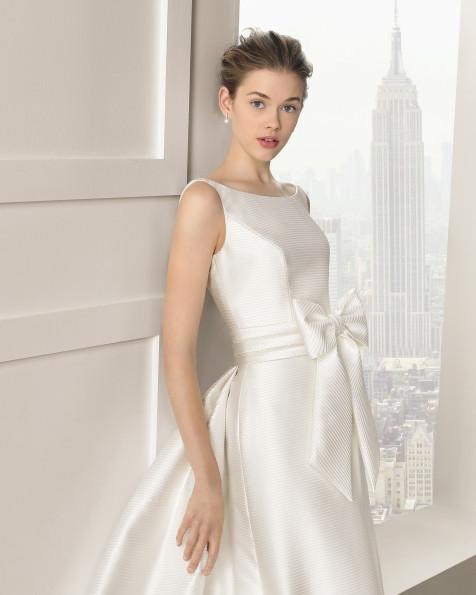 Selenio vestido de novia Rosa Clara