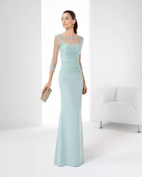 9T191 Vestido de Cocktail de Rosa Clará 2016