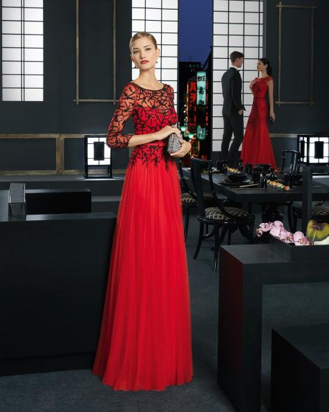 9T298 Vestido de Cocktail de Rosa Clará 2016