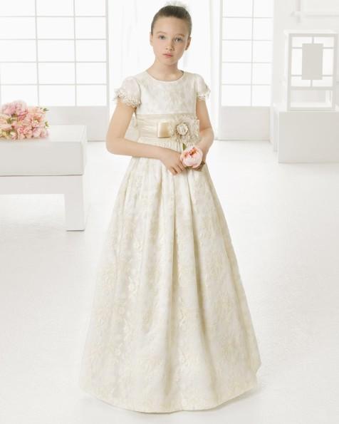 99101   vestido de comunión corte evasé
