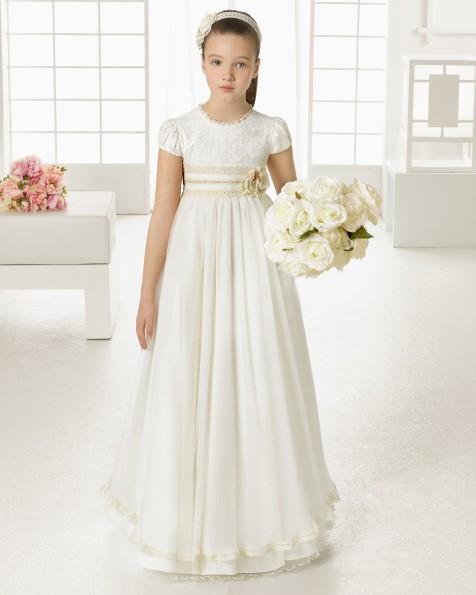 99102   vestido de comunión corte evasé
