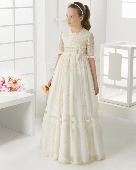 99104   vestido de comunión corte evasé