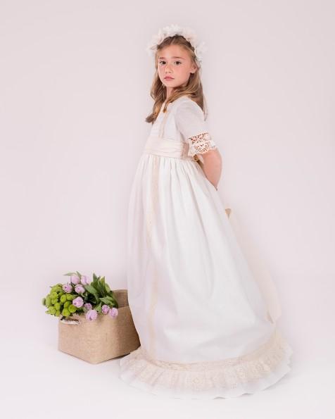99130  vestido de comunión corte evasé