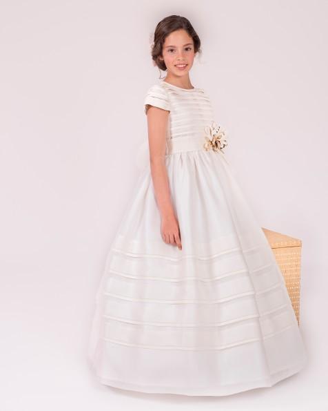 99131  vestido de comunión corte evasé