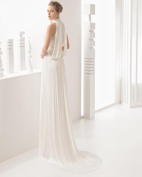 Nacar vestido de novia Rosa Clará 2017
