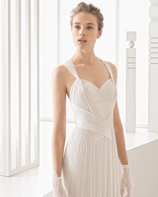 Nacel traje de novia  muselina de seda.