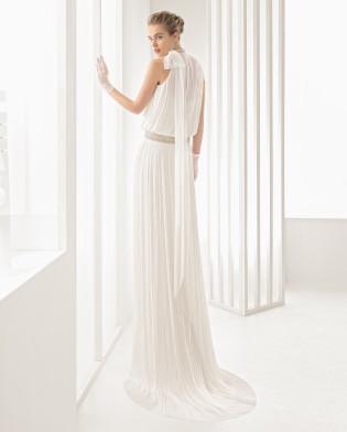 Nadia vestido novia de seda