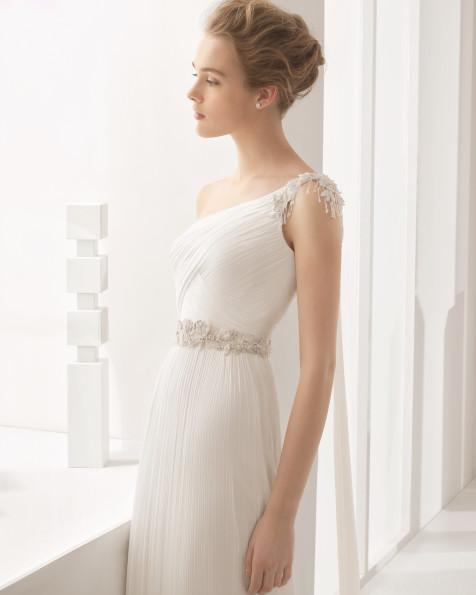 Nadira vestido de novia Rosa Clará 2017