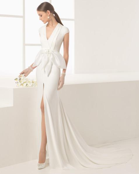 Nicosia vestido de novia Rosa Clará 2017