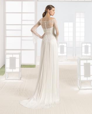 WANIA vestido novia encaje pedreria