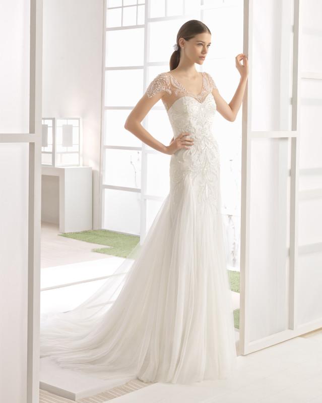 WILMA vestido novia sirena pedreria