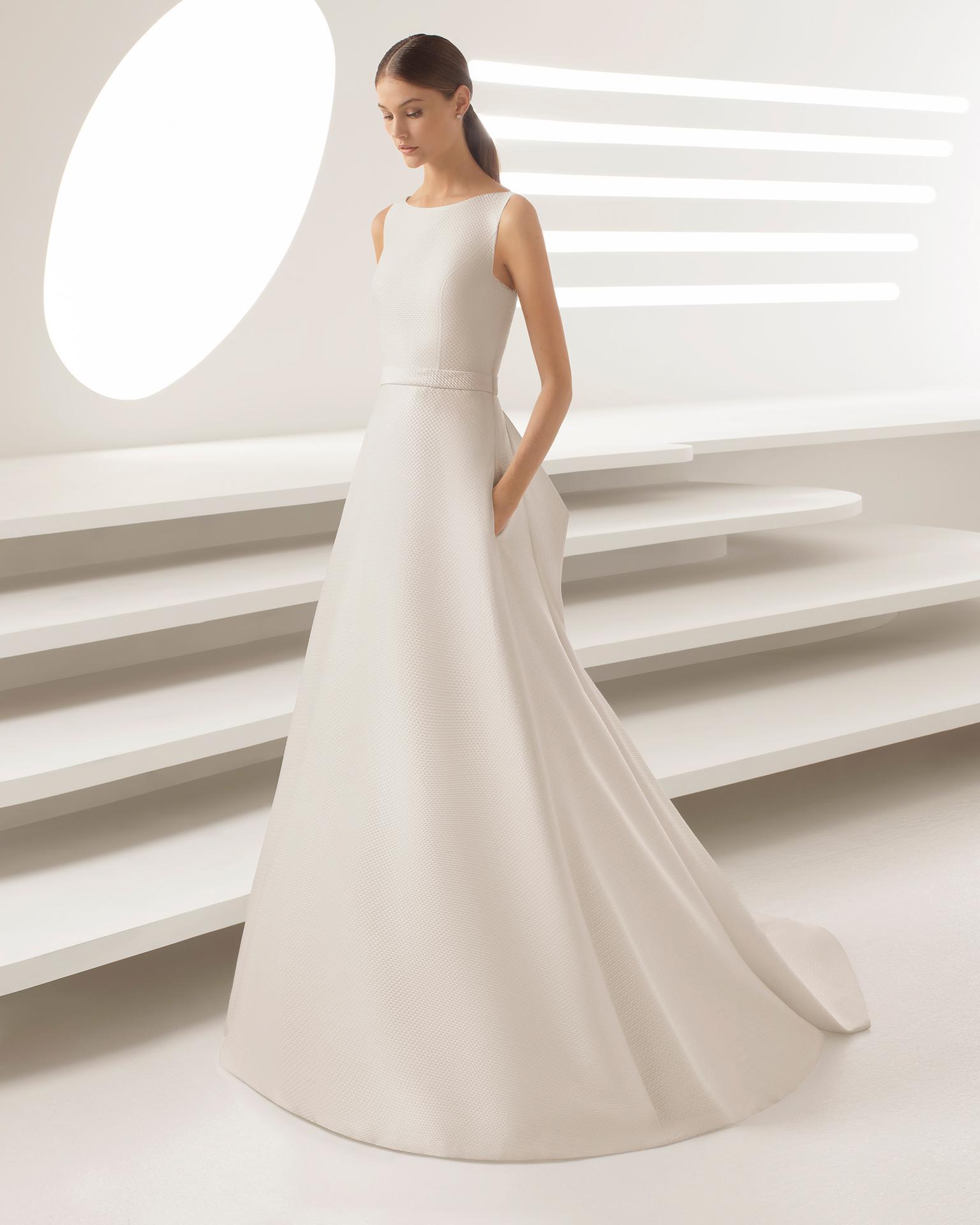 Vestido novia lazo rosa clara