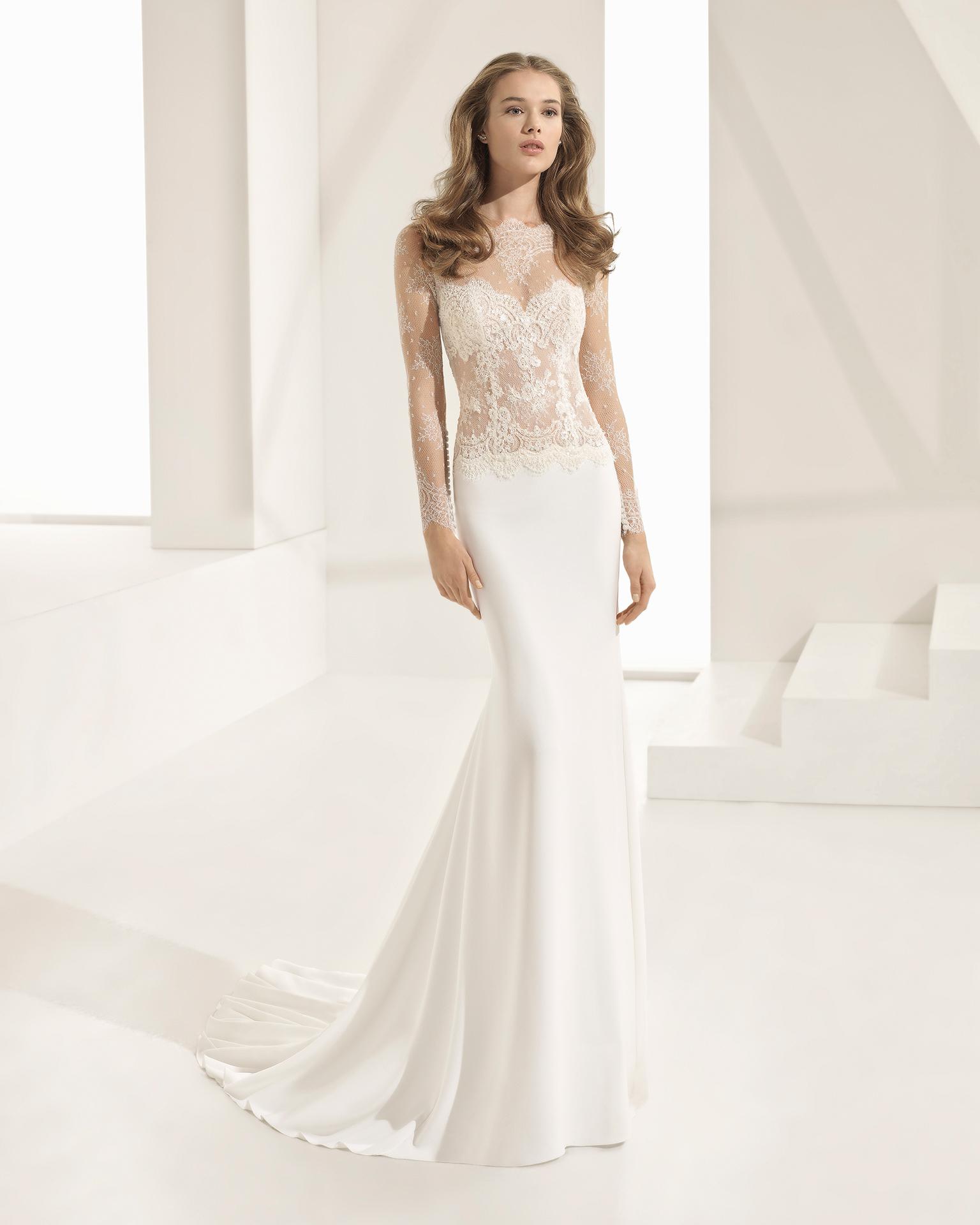Alquiler vestidos novia rosa clara