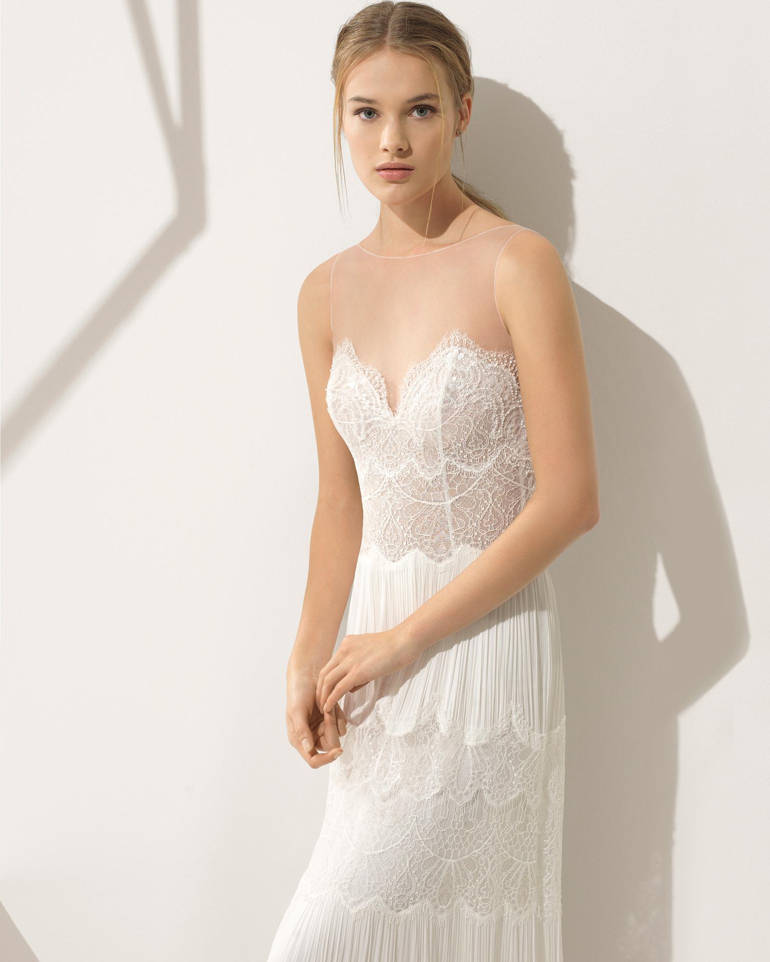 Vestido de novia con chantilly