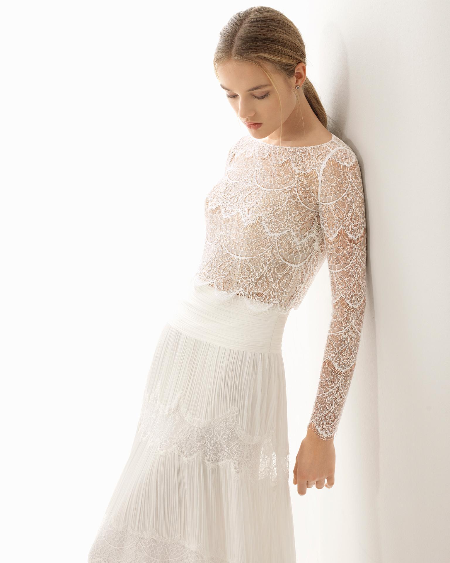 Novia Rosa Pavel Colección Couture Clará 2018 4gqwY7dY
