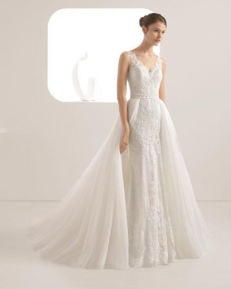 Vestidos de novia corte princesa de encaje