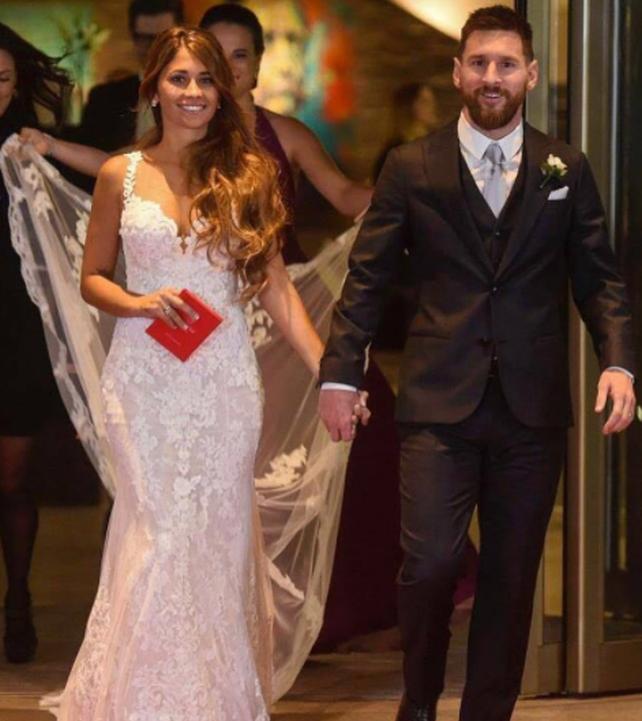 Vestido de boda de la mujer de messi