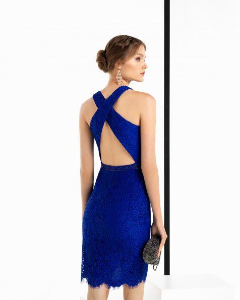 Vestidos de fiesta cortos en color azul