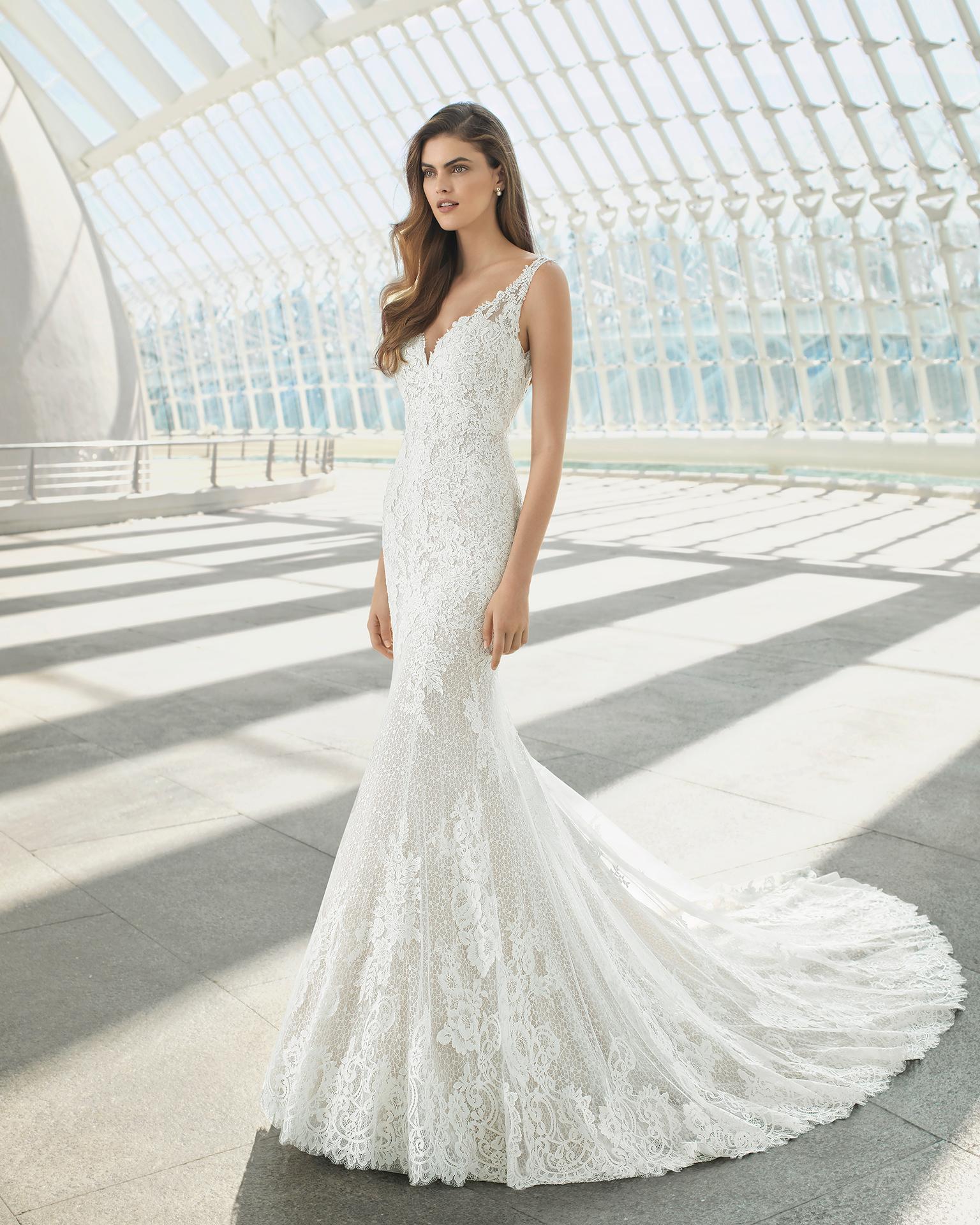 Vestido de novia modelo rosa clara
