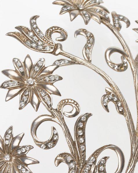 Diadema de novia en metal, en color plata. Colección ROSA CLARA COUTURE 2019.