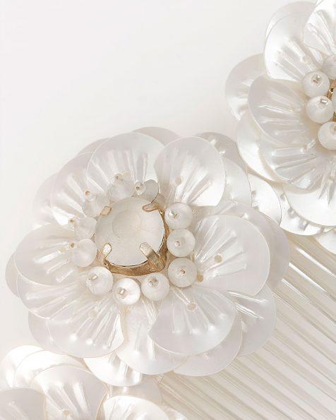 Polyvinyl and crystal bridal mantilla comb. 2019 ROSA CLARA COUTURE Collection.