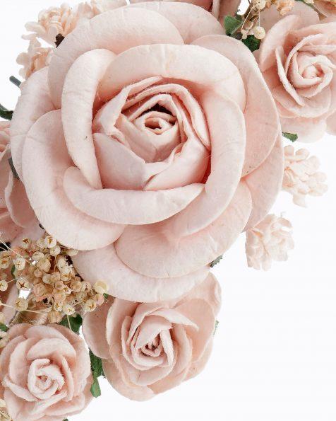 Pinta de núvia amb flors. Disponible en color natural, nude, blau i rosa. Col·lecció ROSA CLARA COUTURE 2020.