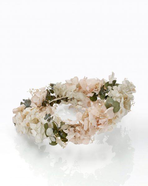 Corona de núvia d'estil boho de flors. Disponible multicolor. Col·lecció ROSA CLARA COUTURE 2020.