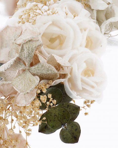 Corona da sposa stile bohemien di fiori. Disponibile in multicolore. Collezione ROSA CLARA COUTURE 2020.