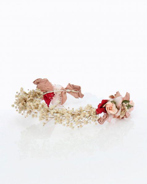 Diadema de novia con florecitas naturales. Colección ROSA CLARA COUTURE 2020.