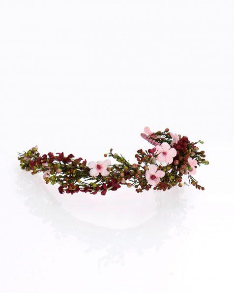 Copricapo da sposa con fiori e semi. Collezione ROSA CLARA COUTURE 2020.