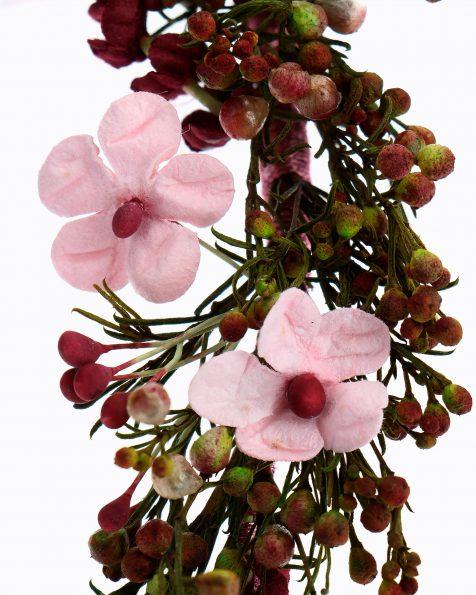 Toucado de noiva de flores e sementes. Coleção ROSA CLARA COUTURE 2020.