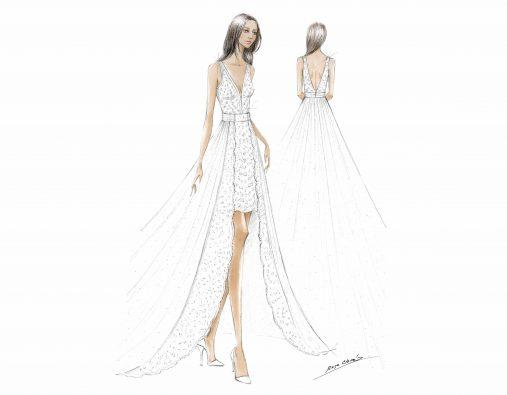 Rosa Clará firma el segundo vestido de la boda religiosa de Marie Chevallier