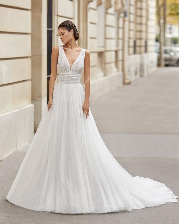 O romantismo dos vestidos de noiva com tule