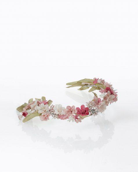 Mitja corona de flors i fulles. Col·lecció ROSA CLARA COUTURE 2022.